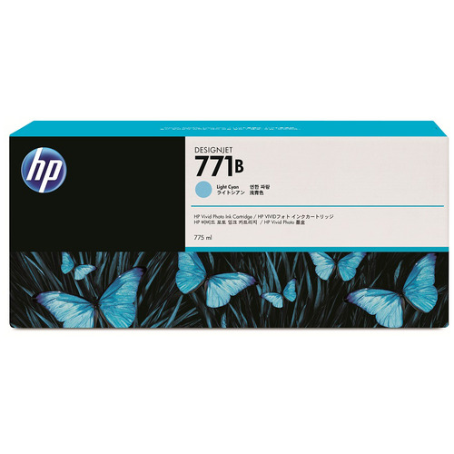 HP HP771B インクカートリッジ ライトシアン 775ml 顔料系 B6Y04A 1個