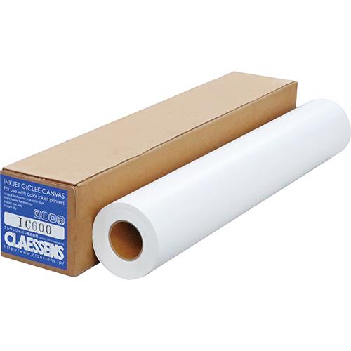 クレサンジャパン インクジェット用キャンバスグロス 24インチロール 610mm×12m 2インチコア IC600 1本