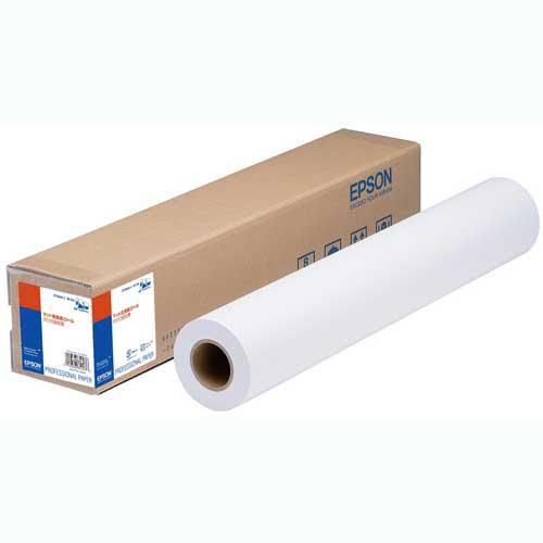 エプソン マット合成紙ロール のり付弱粘着 24インチ 約610mm幅×30.5m 2インチ紙管 EPMSP24J 1本