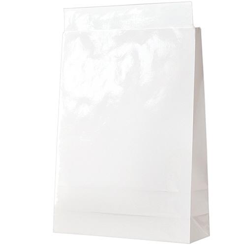 宅配袋 PPフィルム加工 大 白 封かんテープ付 1セット(1000枚:100枚×10パック)