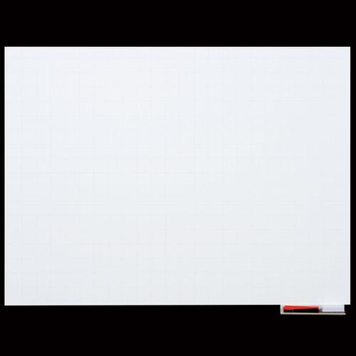 マグエックス マグネットホワイトボードシート 暗線入 超特大 1800×900mm MSHP-90180-M 1枚