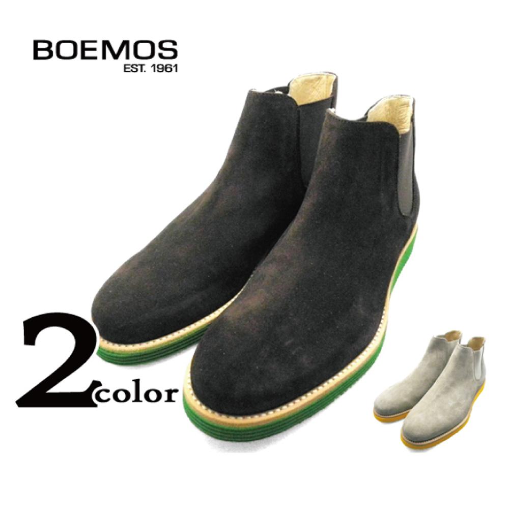 BOEMOS ボエモス VIVEL E3-4282 TMORO EARTH サイドゴア ショートブーツ スエード 本革 イタリア製 革靴 紳士靴 メンズ