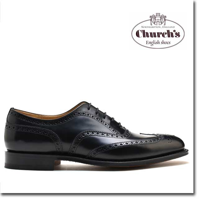 【週末限定価格】【ようこそ2020年価格】チャーチ 靴 チェットウィンド ブラック カーフ Church's CHETWYND BLACK 173 POLISHED BINDER 黒 メンズ ウィングチップ