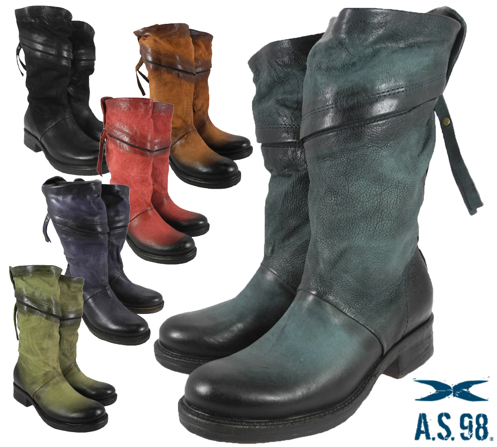 promo code a71c5 092a6 Air step AIRSTEP 725302 LONG ZIP BOOTS 6 COLOR