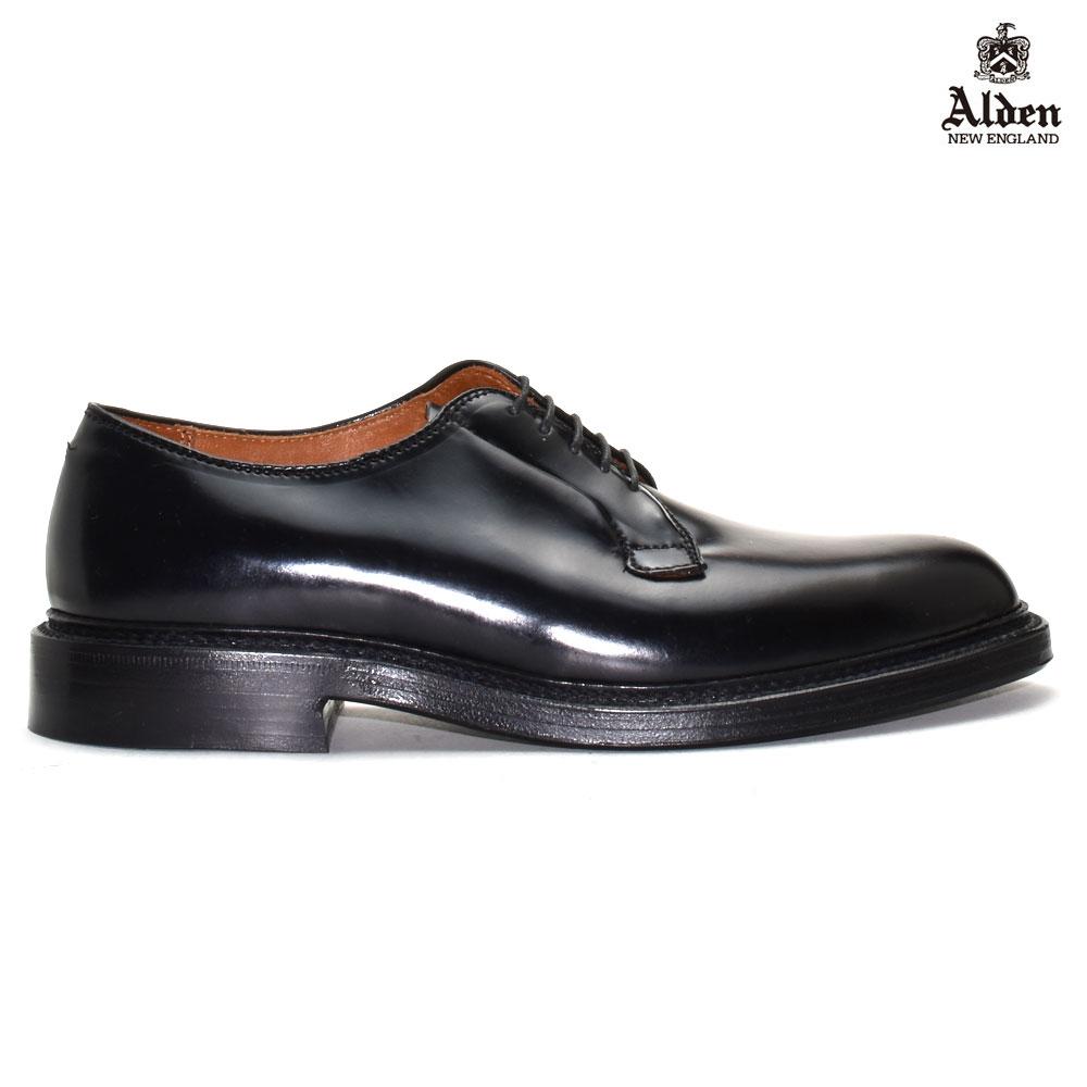 【お家DEお買い物】 オールデン ALDEN 9901 PLANE TOE BLUCHER プレーン トゥ ブラッチャー コードバン ブラック シェル CORDVAN BLACK SHELL ドレスシューズ