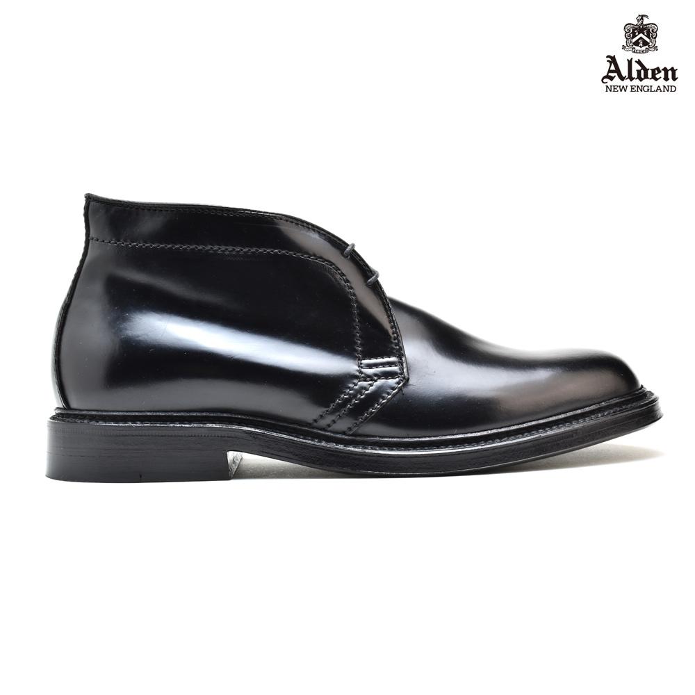 【お家DEお買い物】 オールデン ALDEN 1340 BLACK コードバン ワイズE ドレスシューズ チャッカブーツ ビジネスシューズ 黒 ブラック メンズ