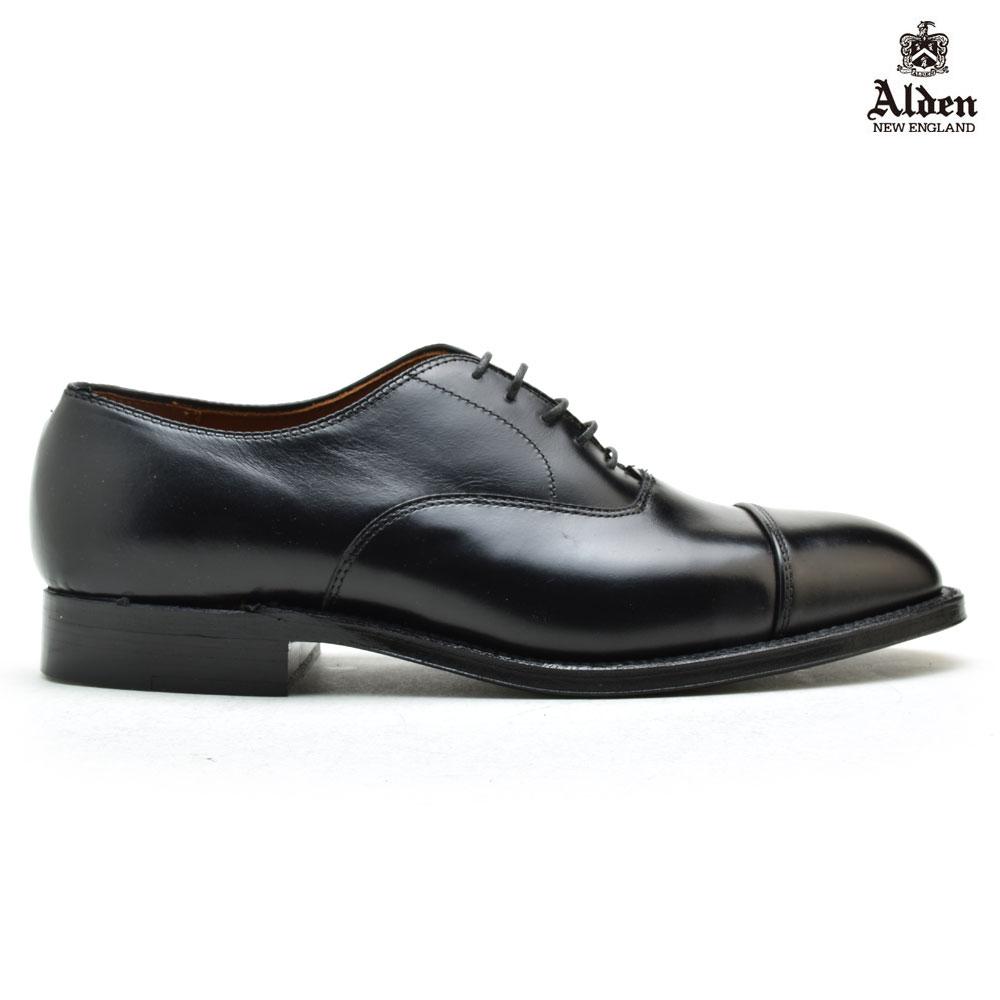 オールデン ALDEN 907 ブラック STRAIGHT TIP BAL OXFORD BLACK ストレートチップ