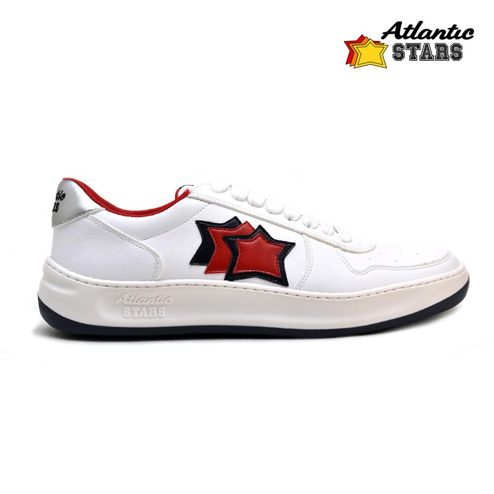 アトランティックスターズ メンズ スニーカー ホワイト 白 リーゲル Atlantic STARS RIEGEL ECOOR TE54 WHITE RED レッド 赤 イタリアsorxtBhdCQ