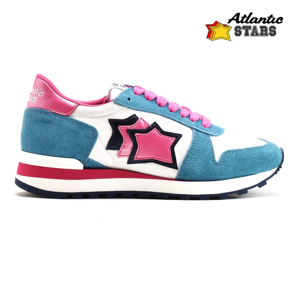 アトランティックスターズ Atlantic STARS ALHENA GB-NY-CBRB アレナ スニーカー ローカット ランニングシューズ ビブラムソール ライトブルー ピンク レディース【送料無料】