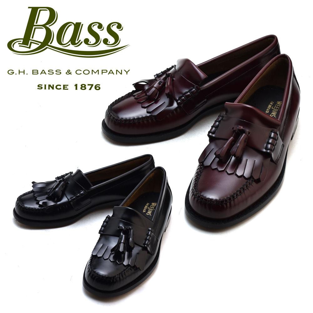#ルンルン春うらら♪ ジーエイチバス G.H.BASS LAYTON2 BLACK WINE Eワイズ レイトン ブラック ワイン ローファー カジュアル ドレス シューズ 革靴 メンズ