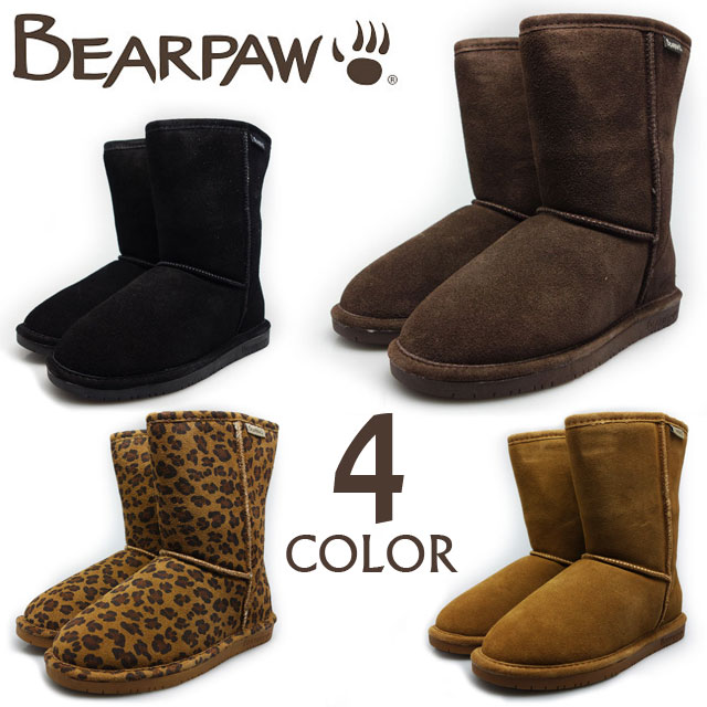 13d6c5ed035d Cloud Shoe Company: BEARPAW EMMA SHORT bearpaw Emma sort 608 W BLACK/011  CHOCOLATE/205 HICKORY/220 HICKORY LEOPARD/230 | Rakuten Global Market