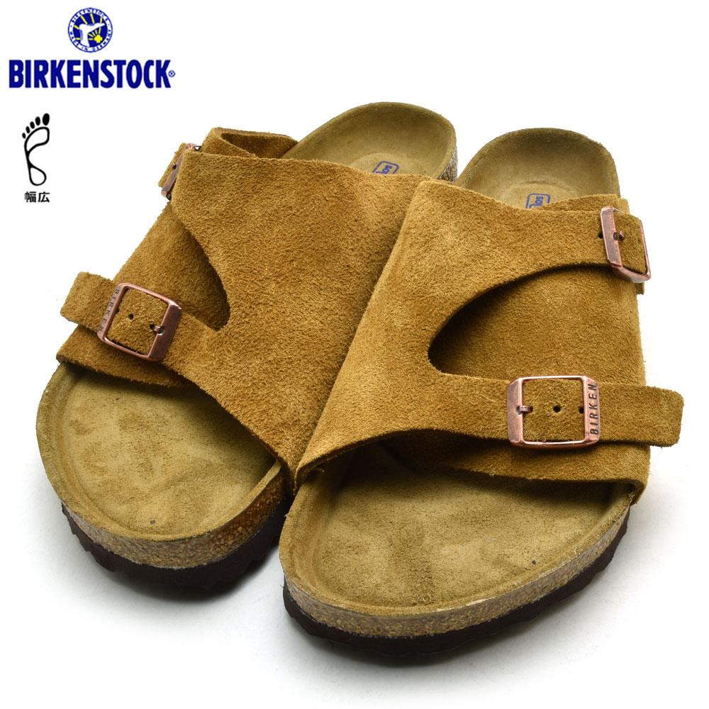 e894ca1c1f4 ビルケンシュトックチューリッヒメンズレディースミンクソフトフットベッド BIRKENSTOCK ZURICH SFB MINK wide  1009534 sandals