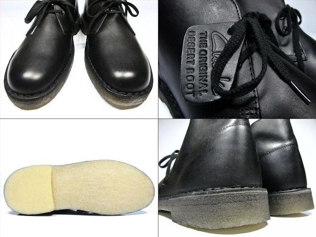 a3619640 Clarks CLARKS 00111443 DESERT BOOT BLACK LE mens size Clarks desert boots  black leather