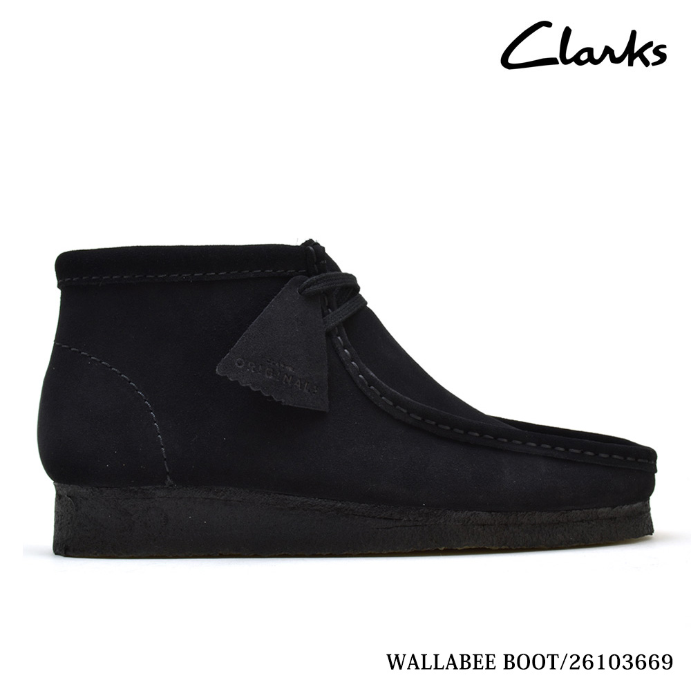 7847556a32188 Clarks CLARKS 35409 WALLABEE BOOT BLACK SUEDE mens size Clarks Wallaby  boots Black Suede Clarks 35409 ...