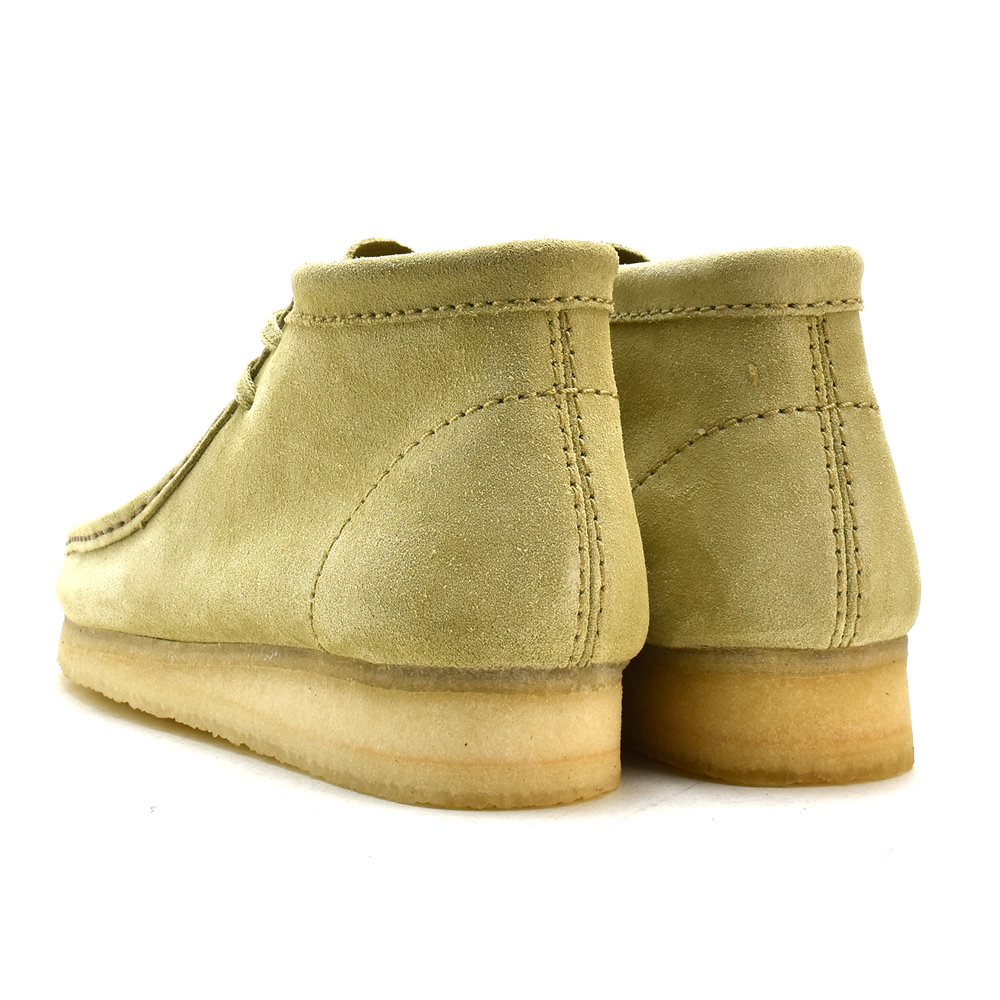Clarks CLARKS 35405 WALLABEE BOOT SAND SUEDE mens size Clarks Wallaby boot sand suede beige Clarks 35405