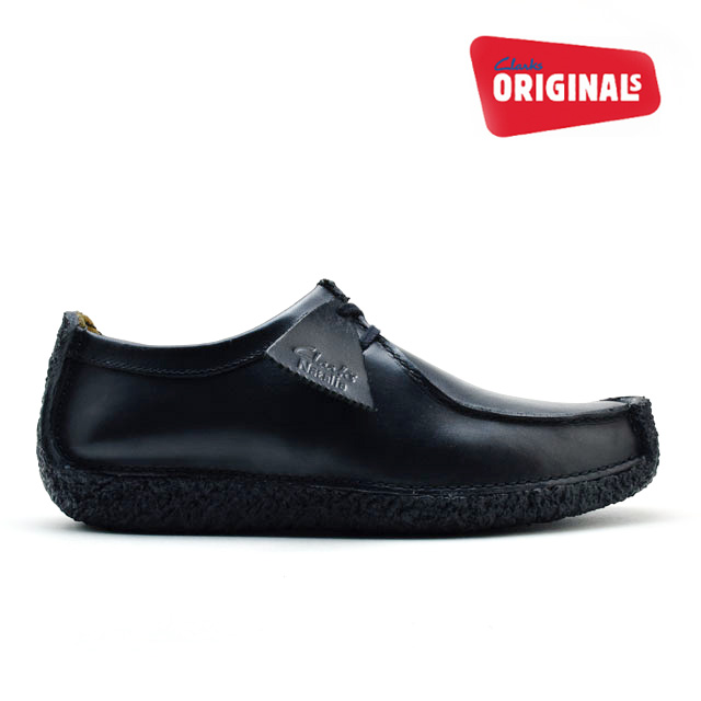 2e7a0eb764 Kulaki CLARKS Natalie black leather CLARKS NATALIE 26109037 BLACK LEATHER  UK standard genuine leather leather men