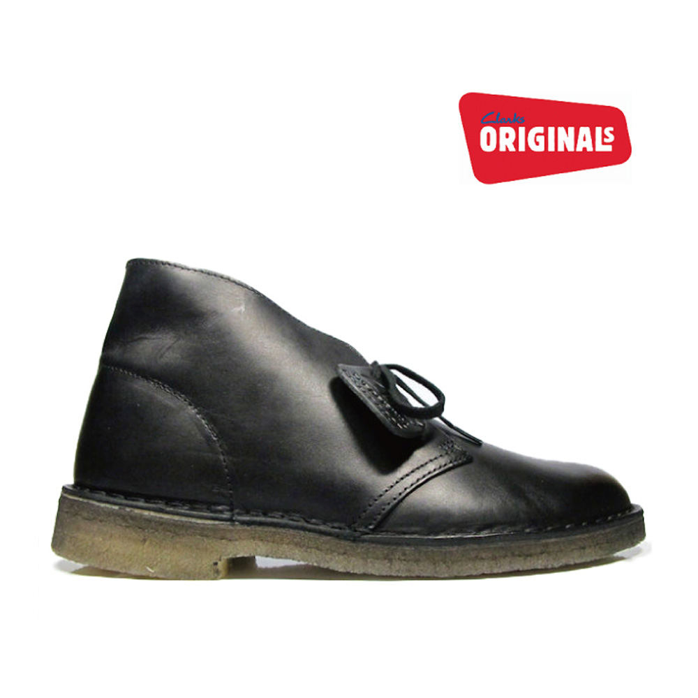 clarks desert boot sale black