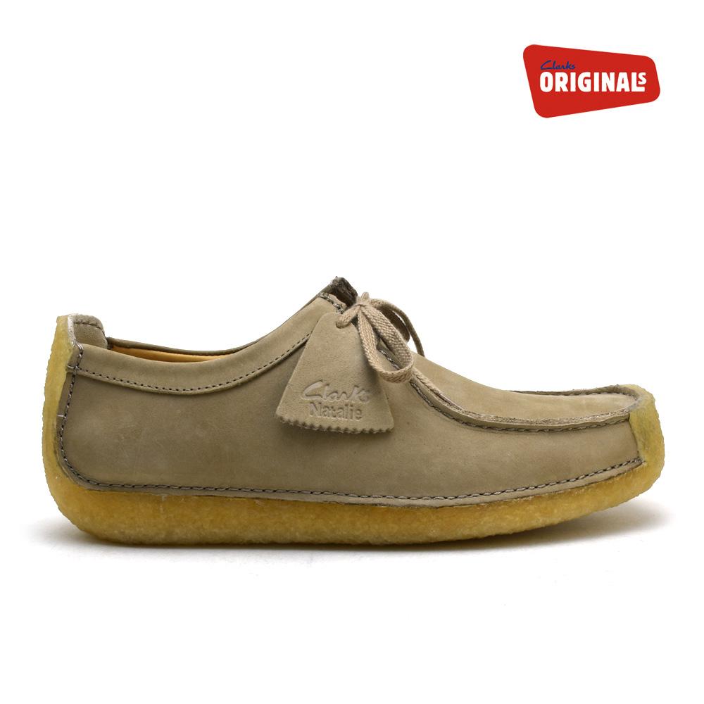 Kulaki Natalie CLARKS NATALIE sand nubuck SAND NUBUCK 26117530 men's genuine leather leather shoes
