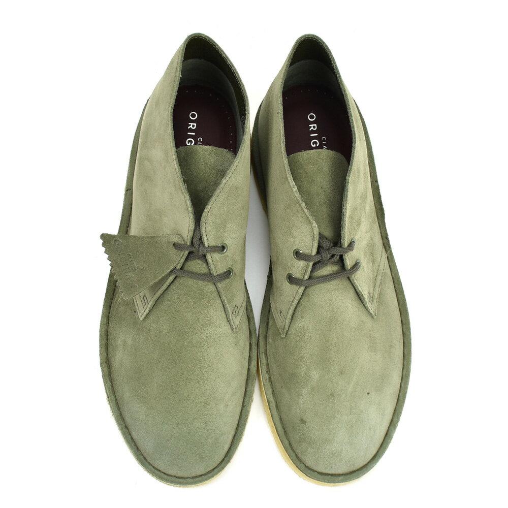 Kulaki CLARKS 26138234 DESERT BOOT OLIVE SUEDE men dessert olive suede leather boots