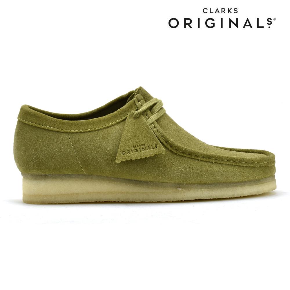【お家DEお買い物】クラークス CLARKS 26146513 WALLABEE KHAKI SUEDE ワラビーロー ブーツ カジュアルシューズ カーキ スエード メンズ