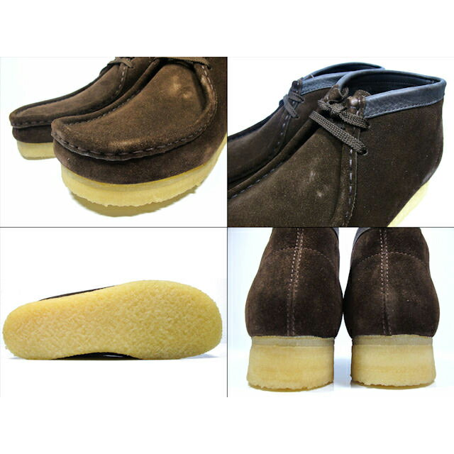 f1eac46db Clarks CLARKS 35402 WALLABEE BOOT BROWN SUEDE mens size Clarks Wallaby boots  brown suede Clarks 35402