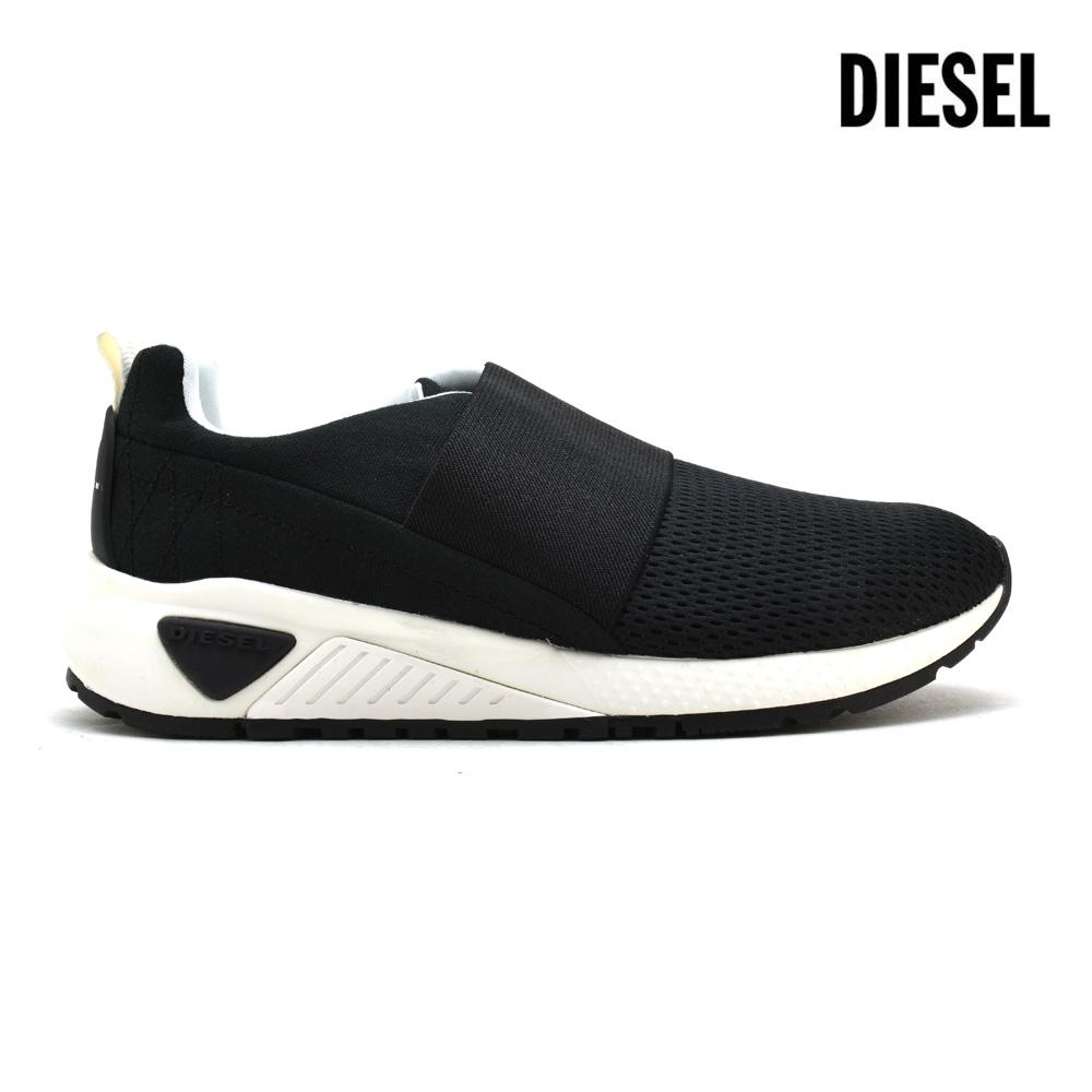 【ラスト1足】ディーゼル DIESEL Y01654/P1608 T8013 ローカット スニーカー スリッポン ブラック 黒 BLACK メンズ