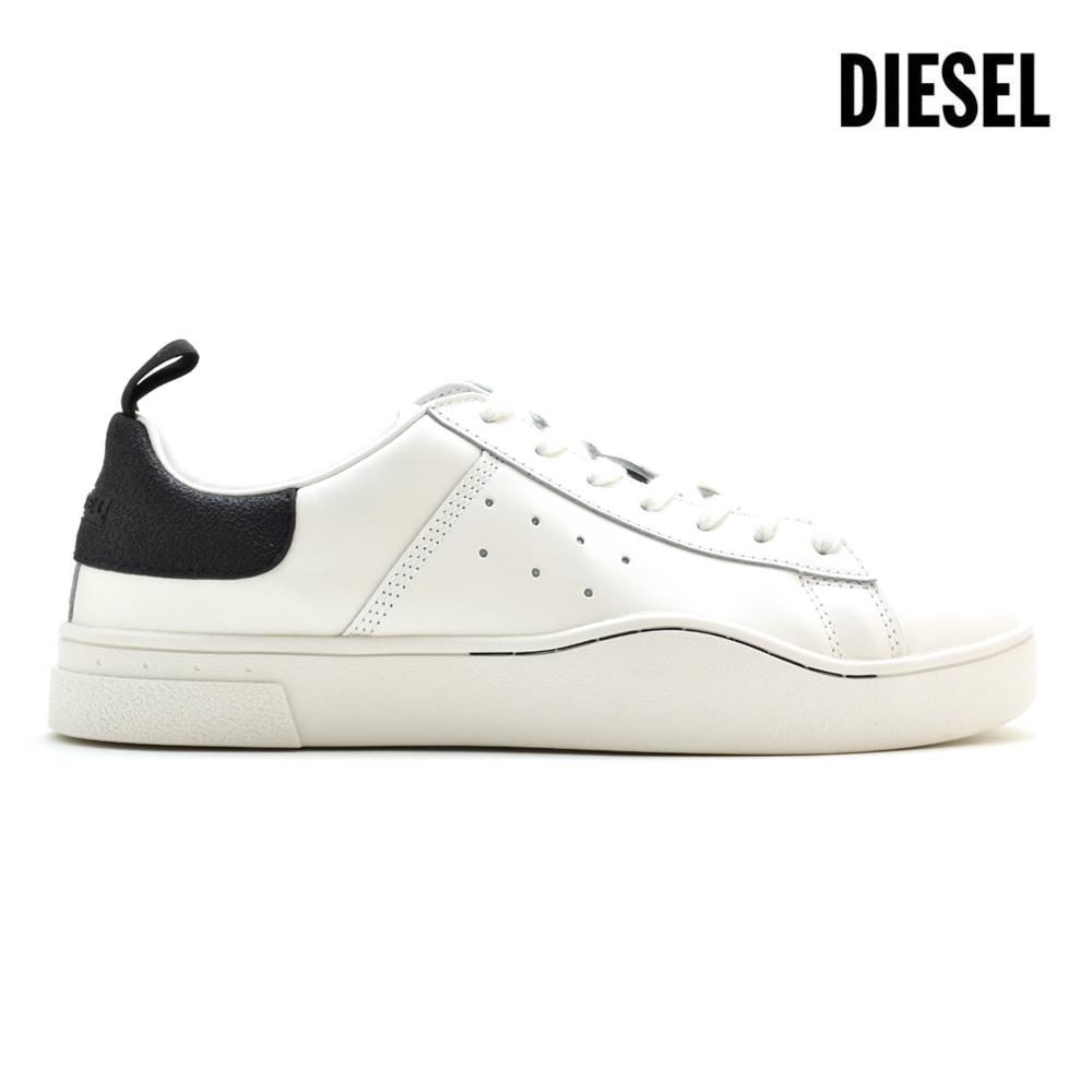 ディーゼル DIESEL Y01748/P1729 H1527 SNEAKER S-CLEVER LOW BLACK/WHITE ローカット スニーカー ブラック 黒 ホワイト 白 メンズ【送料無料】