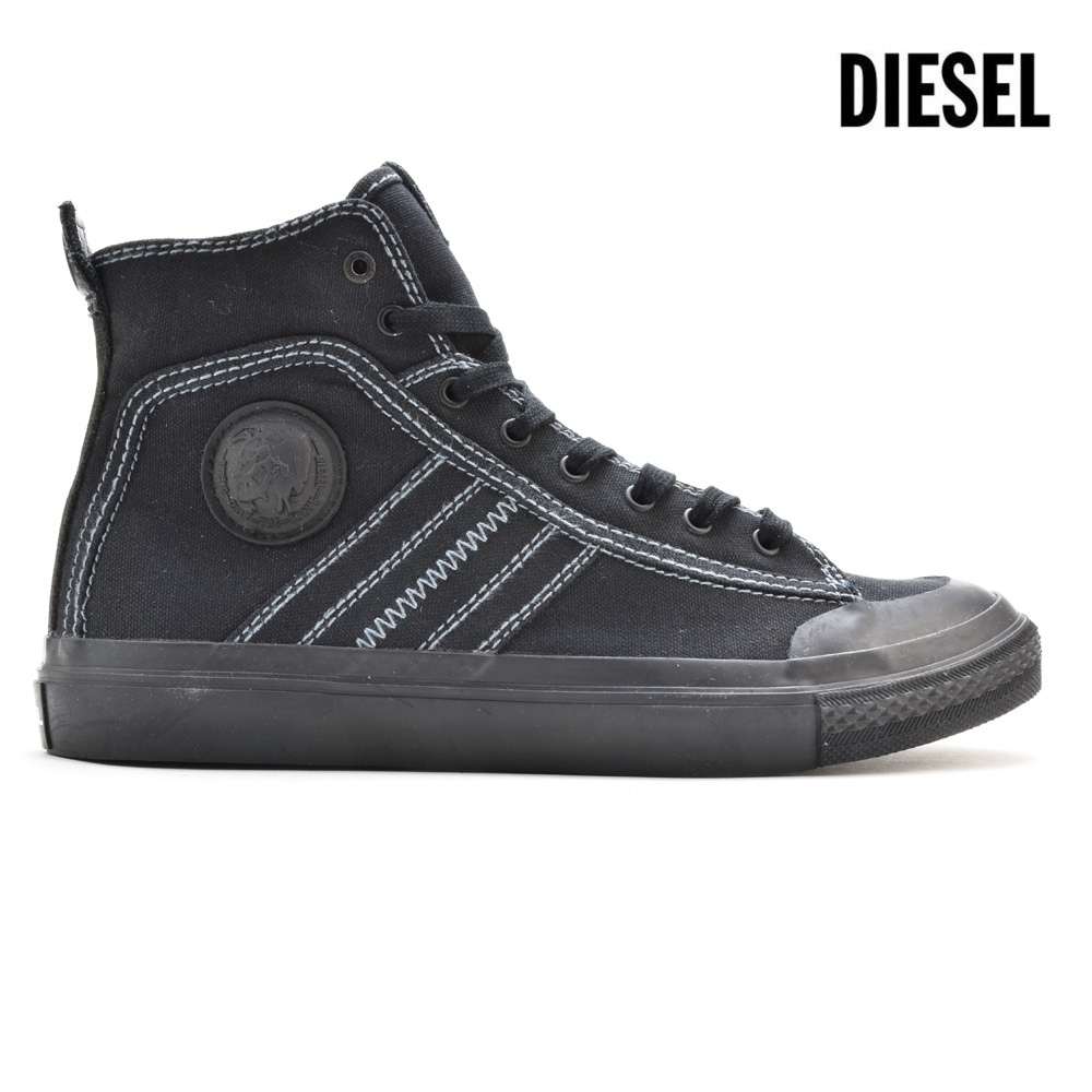 ディーゼル DIESEL Y01874/PR012 T8013 SNEAKER S-ASTICO MIDLACE BLACK ハイカット スニーカー ブラック 黒 メンズ