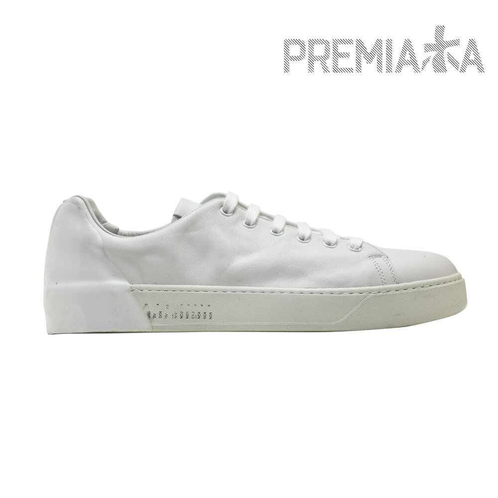 aea39cdc77b プレミアータ PREMIATA ANNO 2015 POLO WHITE polo low-frequency cut sneakers vibram  sole white white men
