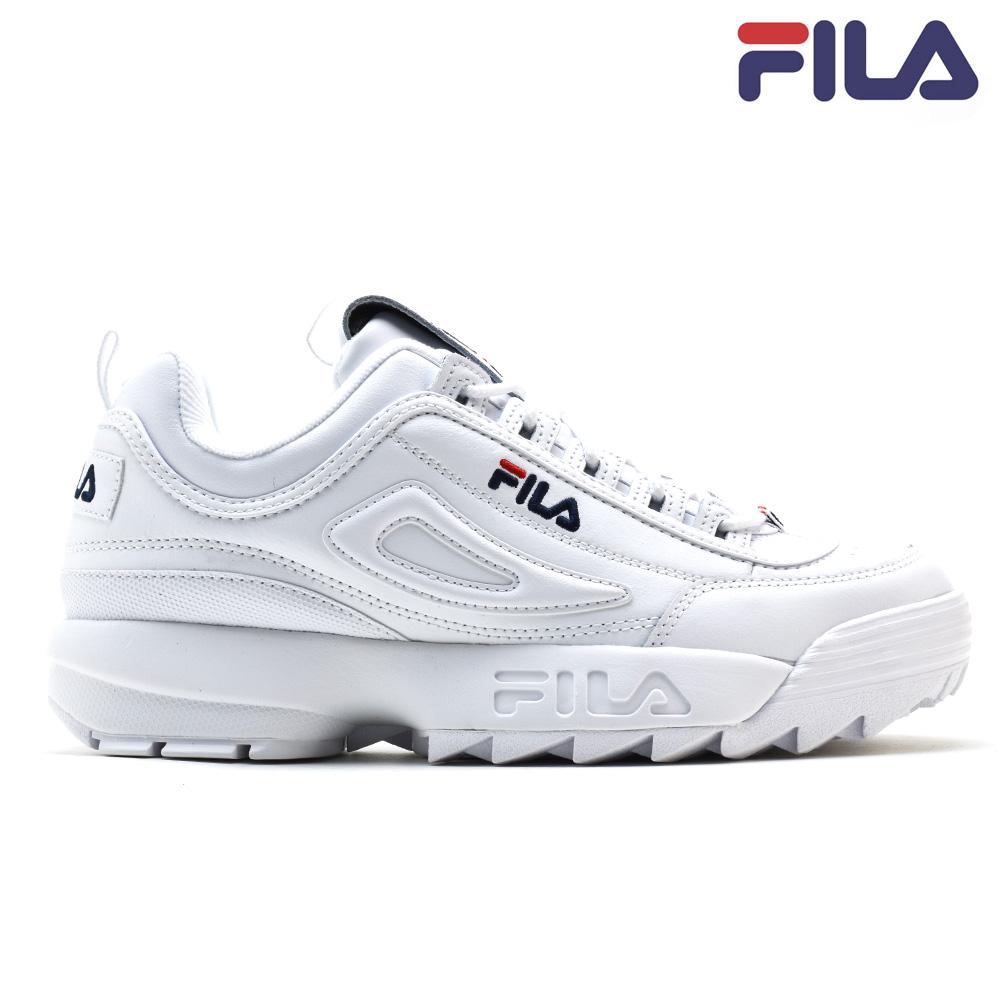 フィラ FILA DISRUPTOR2 PREMIUM 1FM00139-125 WHITE ディスラプター2 ダッドシューズ ダッドスニーカー 厚底 ローカット ホワイト 白 メンズ