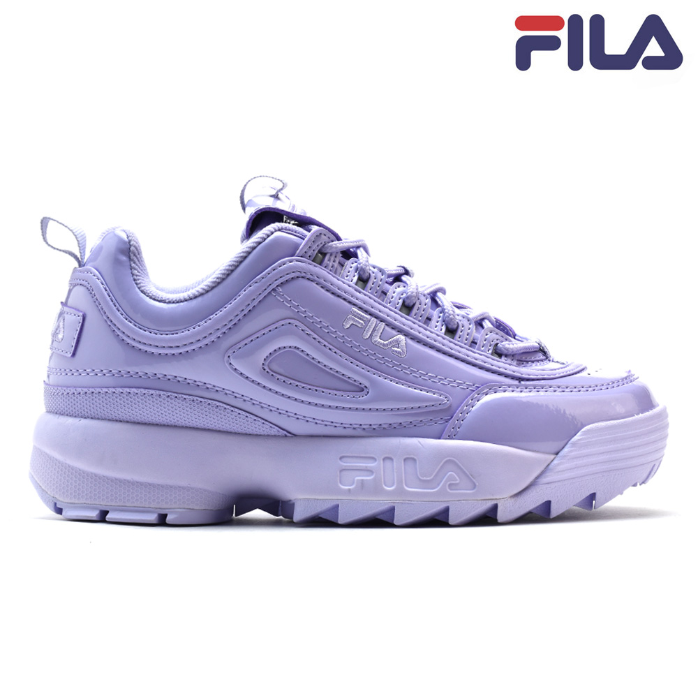 Fila FILA DISRUPTOR2 PREMIUM PATENT 5FM00542 500 PURPLE ディスラプター 2 ダッドシューズダッドスニーカー thickness bottom low frequency cut purple purple Lady's men