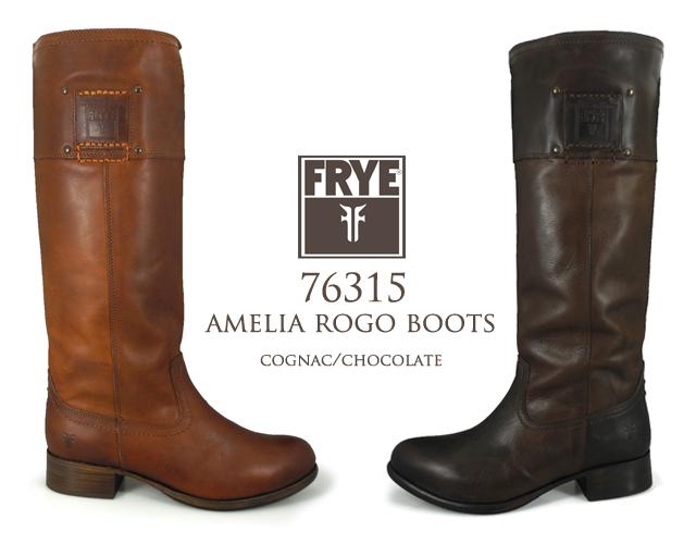 FRYE AMELIA ROGO BOOTS 76315COGNAC・CHOCOLATE・BLACK フライ アメリアロゴブーツ 76315コニャック・チョコレート・ブラック レディース