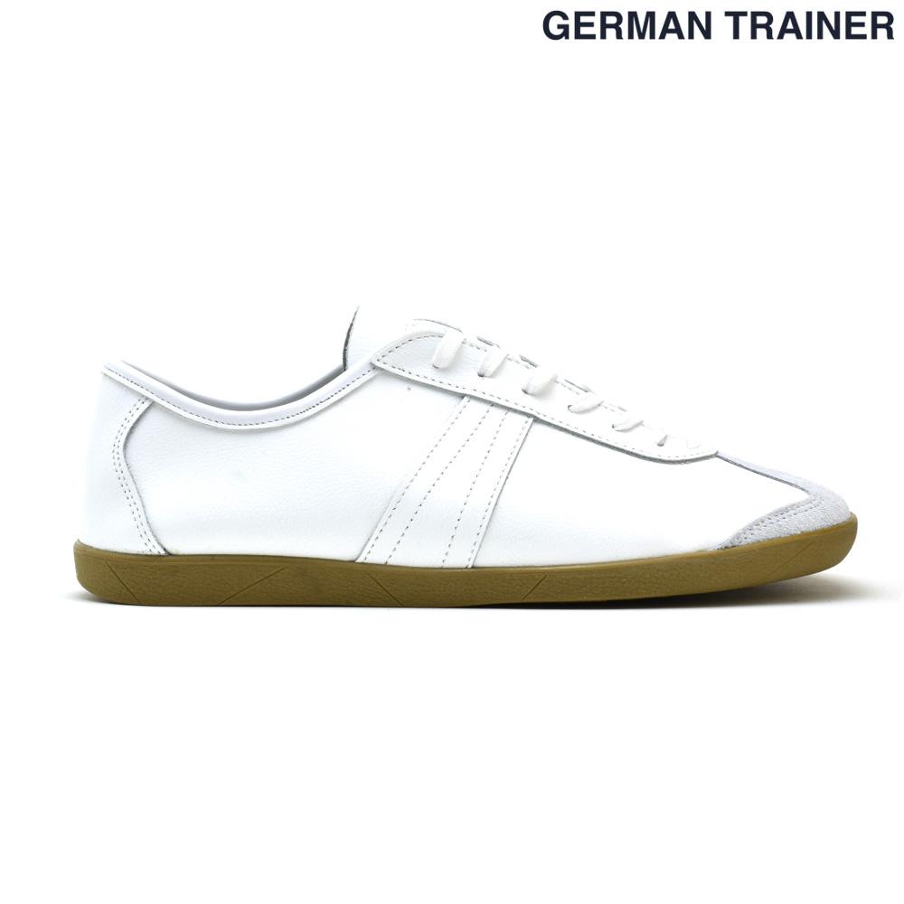 ジャーマントレーナー GERMAN TRAINER 1183-80 WHITE トレーニングシューズ スニーカー ローカット ホワイト 白 メンズ