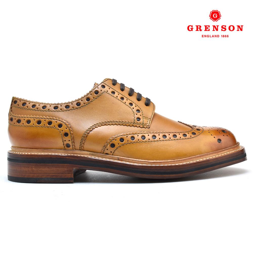 #ありがとう超絶感謝!!! グレンソン GRENSON ARCHIE 110006 CALF 靴 メンズ アーチー カーフ タン TAN ブーツ