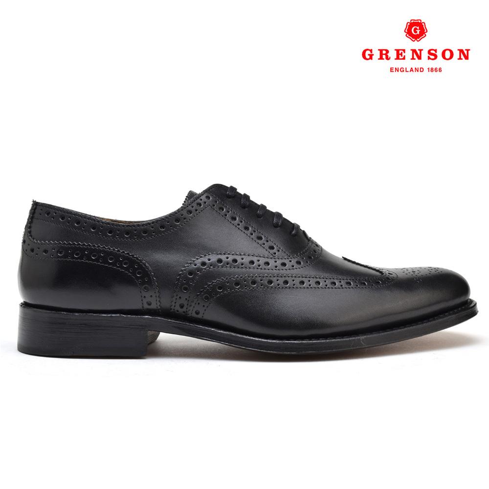 グレンソン GRENSON DYLAN 110013 CALF ディラン カーフ 靴 メンズ ブラック 黒 BLACK ブーツ