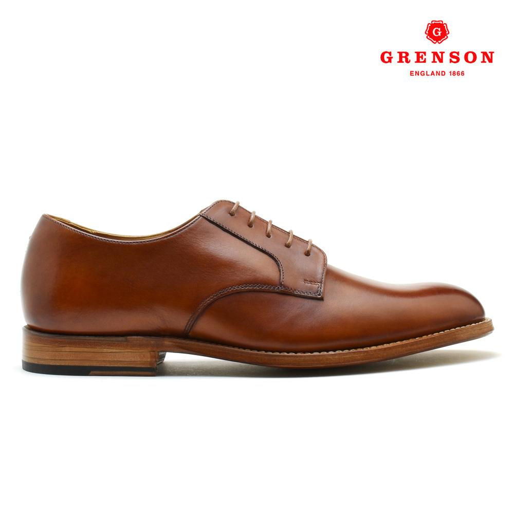 【ラスト1足】グレンソン GRENSON LIAM HAND PAINTED 111638 リアム ハンド ペインテッド カーフ 靴 メンズ タン TAN ドレスシューズ