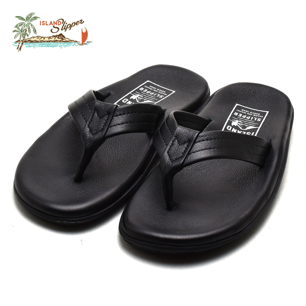 93368b409 Cloud Shoe Company  Island slippers men Hawaii leather sandals black ...