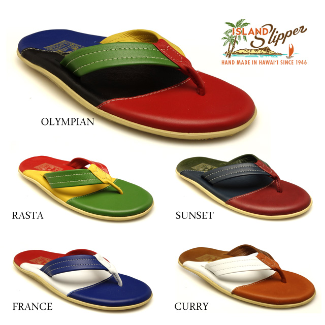 d512aebbc ISLANDSLIPPER islands ripper PT206 men resort sandals leather colorful  WHITE RED BLACK Hawaii