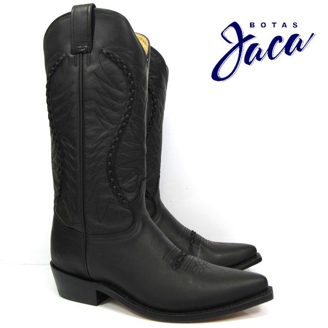 ハカ Botas Jaca 3103 black waxybiker no stripwestern boots cow boy ウエスタン ブーツカウボーイブーツ ブラック本革 黒 WESTERN BOOT victoria