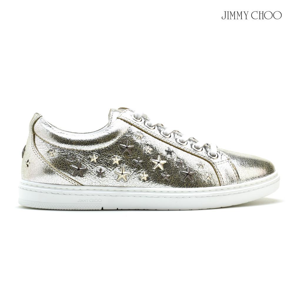 ジミーチュウ JIMMY CHOO CASH GTA/CHAMPAGNE STARS スタースタッズ ローカット スニーカー レースアップ シャンパン メンズ