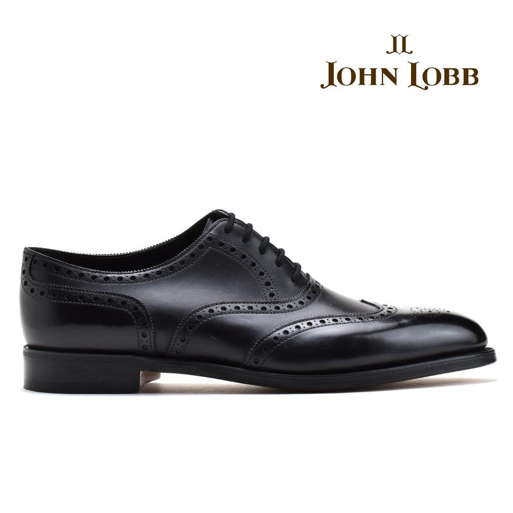 【お家DEお買い物】 ジョンロブ JOHN LOBB STOWEY BLACK ストーウェイ フルブローグ オックスフォード Eワイズ ブラック 黒 ビジネス ドレス シューズ イギリス製 革靴 メンズ