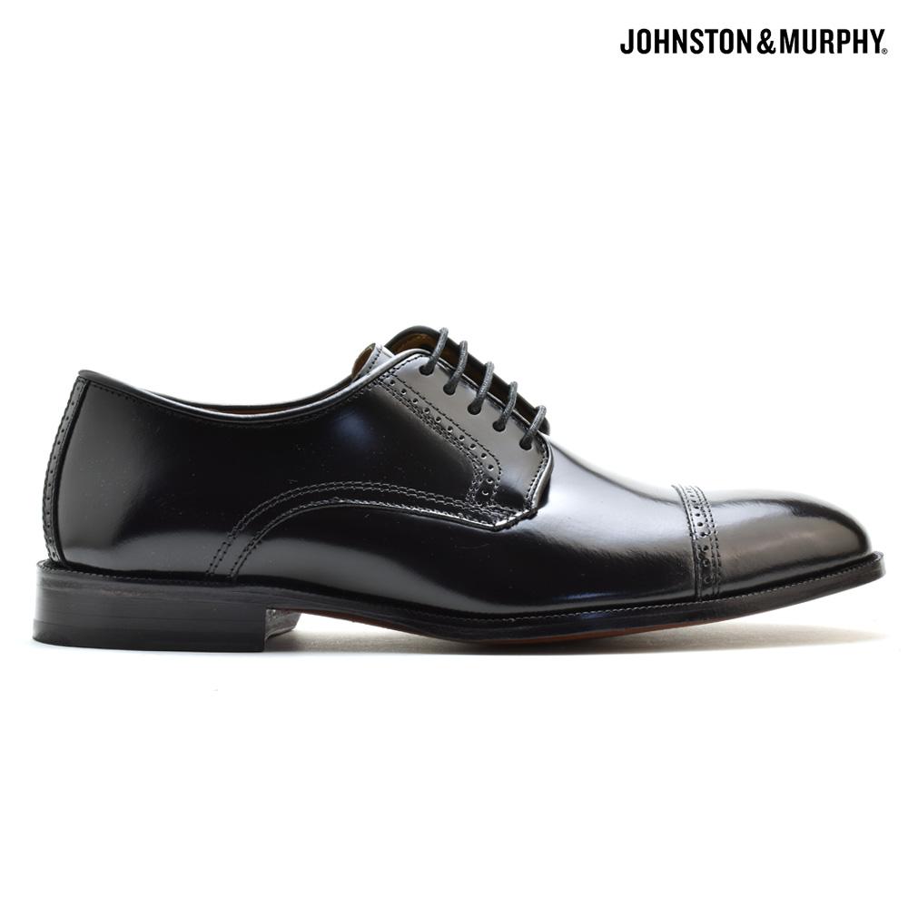 ジョンストン&マーフィー JOHNSTON&MURPHY BRADFORD 15-1771 BLACKドレスシューズ ビジネスシューズ フォーマルシューズ 革靴 ストレートチップ ブラック 黒 メンズ