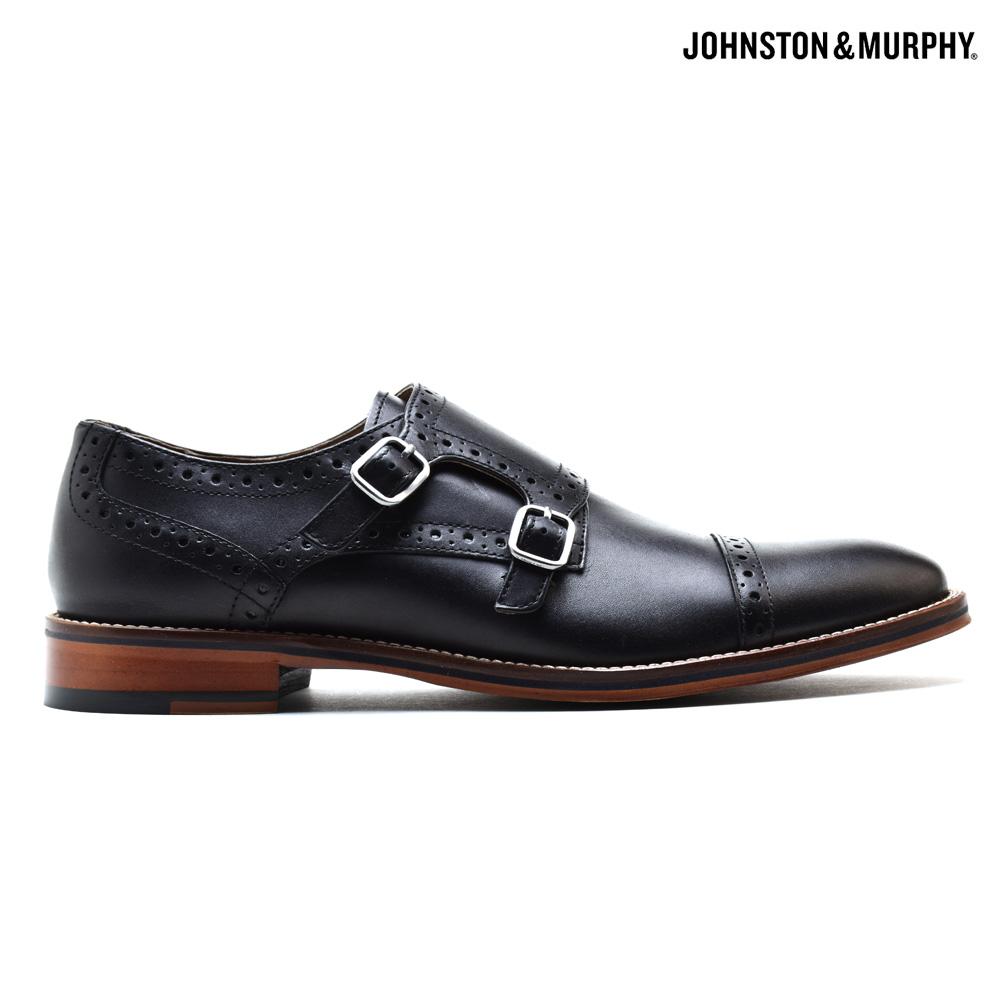 ジョンストン&マーフィー JOHNSTON&MURPHY CONARD DOUBLE MONK 20-2237 BLACK コナード ダブルモンク ドレスシューズ ビジネスシューズ 革靴 ブラック 黒 メンズ