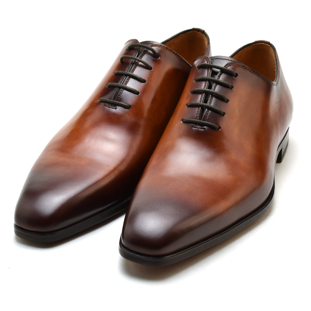 マグナーニ MAGNANNI 13232 CONAC dress shoes business shoes race up round toe leather shoes cognac men