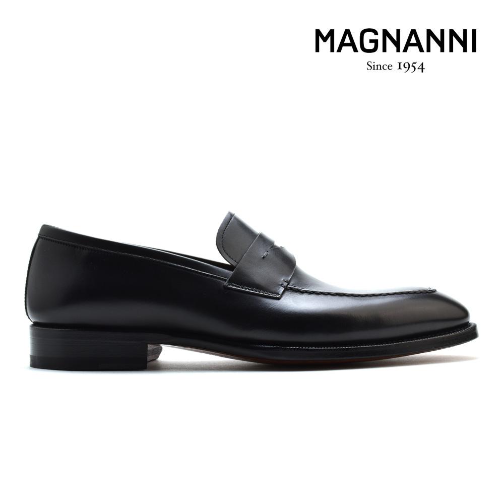 マグナーニ MAGNANNI 21153 NEGRO ローファー ドレスシューズ ビジネスシューズ Uチップ 革靴 紳士靴 ブラック 黒 メンズ