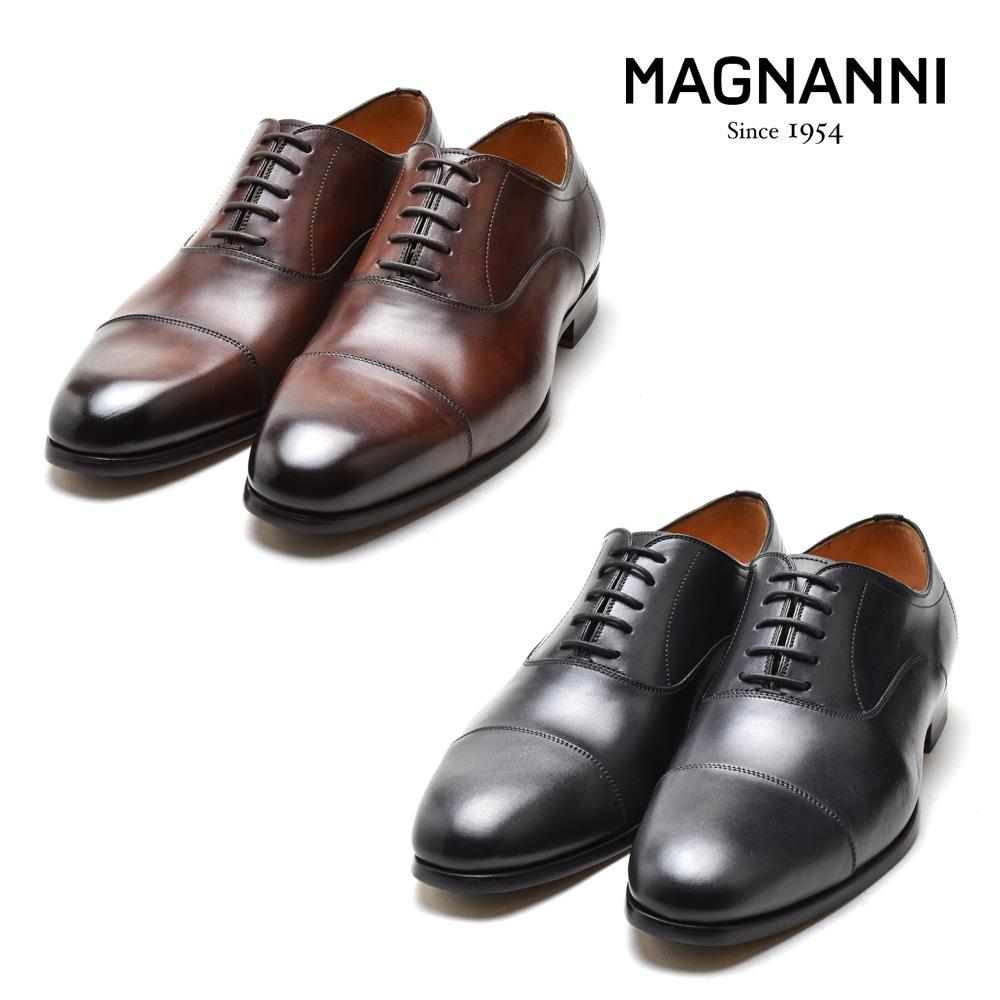 マグナーニ MAGNANNI 22280 NEGRO 654 HEND.FLEX SPAY RASS WALNUTS BOLTILUX CAOBA ドレスシューズ ビジネスシューズ 革靴 ラウンドトゥ ブラック ブラウン系 メンズ
