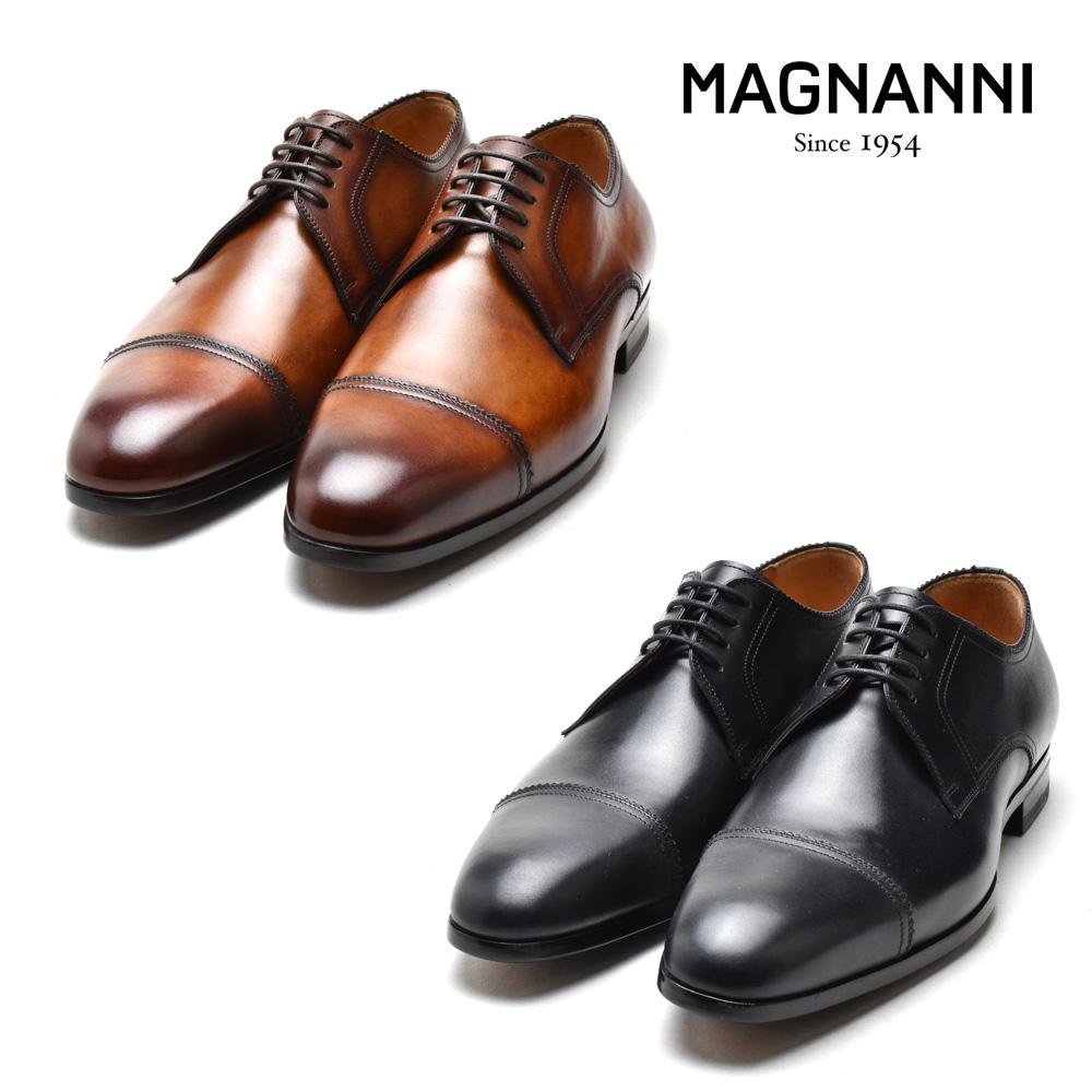 マグナーニ MAGNANNI 22811 AUSTIN AUSTIN MARRON WIND CONAC NEGRO ドレスシューズ ビジネスシューズ 革靴 ラウンドトゥ ブラック コニャック メンズ
