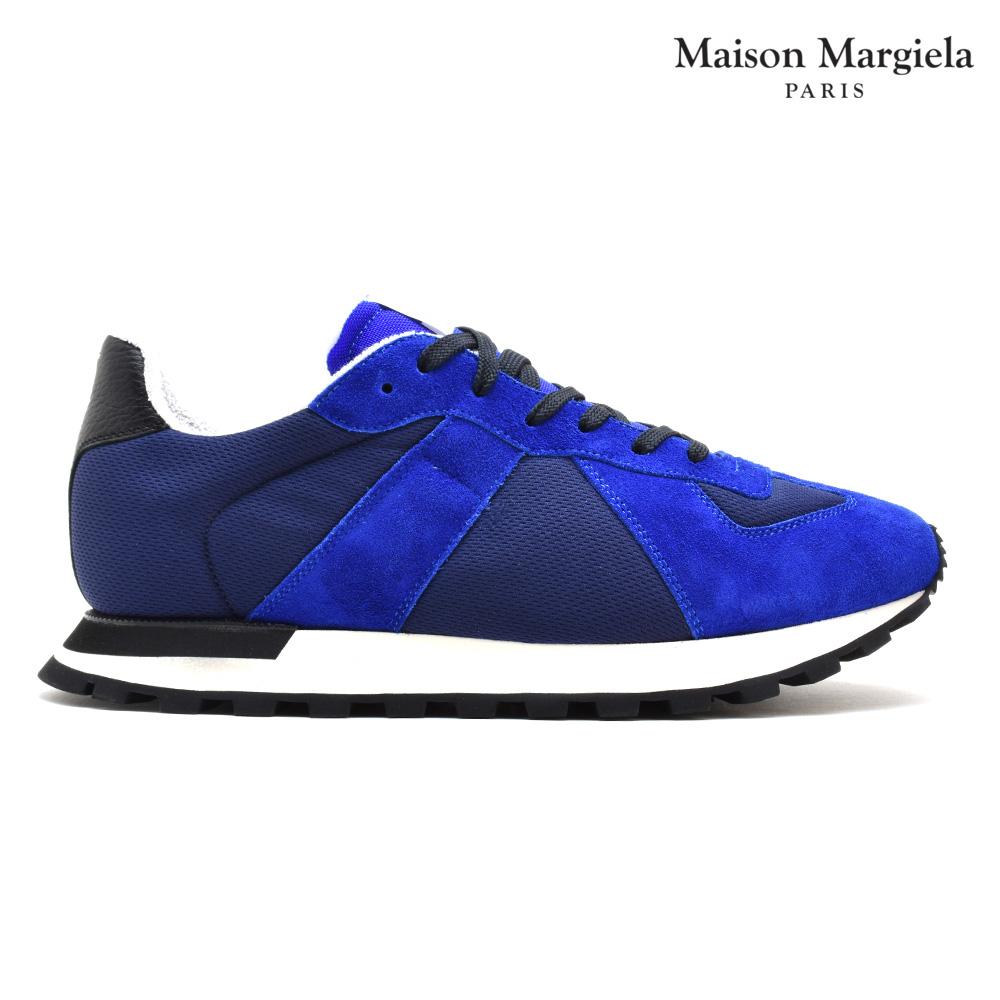 メゾンマルジェラ Maison Margiela S57WS0242 P1879/963 SNEAKER BLUE レプリカ ランナー ランニングシューズ ローカット スニーカー ブルー 青 メンズ【送料無料】