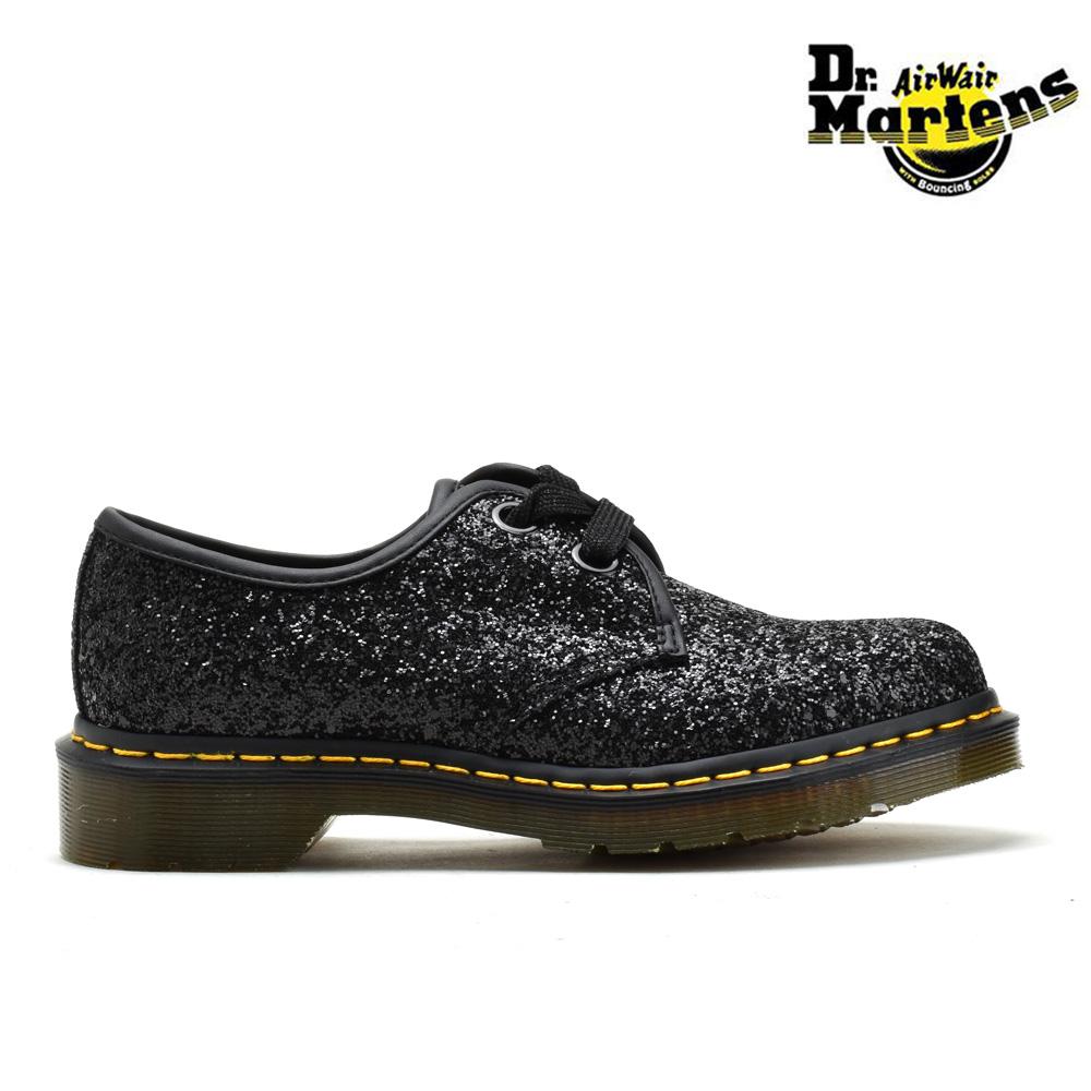 #ルンルン春うらら♪ ドクターマーチン Dr.MARTENS R25141001 FARRAH GLITTER BLACK 3 EYE BOOT ファラー 3ホールブーツ ワークブーツ ブラック 黒 レディース
