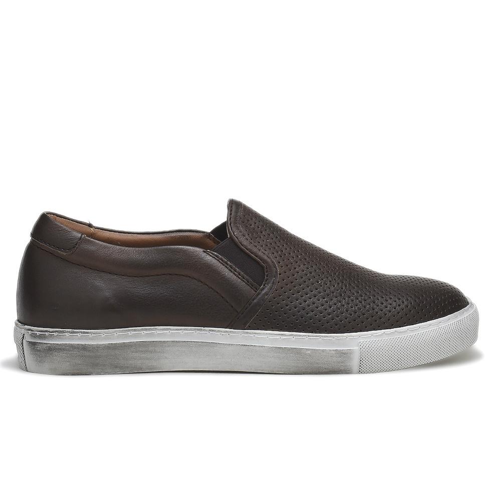 ミノロンゾーニ スニーカー メンズ MINORONZONI MRS161S500 C60 TESTA DI MORO 靴[co-8]